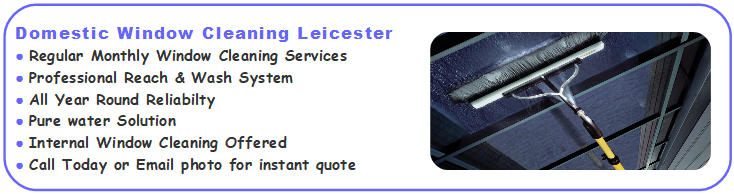 Domestic Window Cleaning Services Leicester